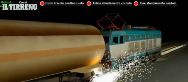 Ricostruzione 3D evento incidentale di Viareggio